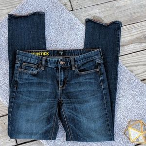 J.Crew 'Matchstick' Dark Wash Bootcut Jeans, 29